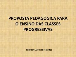 proposta pedagógica para o ensino das classes progressivas