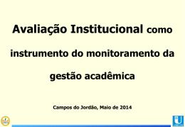 Avaliação Institucional como instrumento do