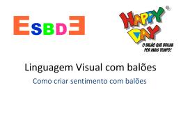 Apresentação Linguagem visual com balões