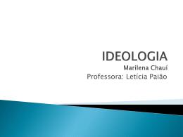 IDEOLOGIA Marilena Chauí