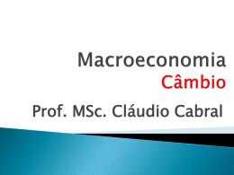 Taxa de Câmbio Nominal - Universidade Castelo Branco