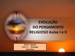Evolução do Pensamento Religioso I e II (CleaA)