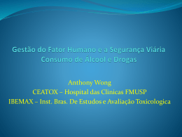 """Consumo drogas/álcool"" – Prof. Dr. Anthony Wong – FMUSP"