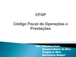 CFOP (Código de Operações Fiscais e Prestações )