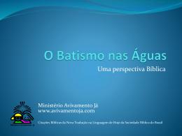 O Batismo das Águas