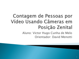 Contagem de Pessoas por Vídeo Usando Câmeras em