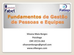 gestão de pessoas - Silvana Maia Borges