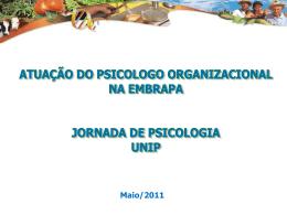 Psicologo Organizacional na Embrapa 2011 UNIP