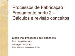 Introdução aos Processos de Fabricação