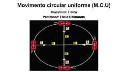 Movimento circular uniforme (M.C.U)