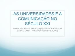 as universidades e a comunicação no século xxi