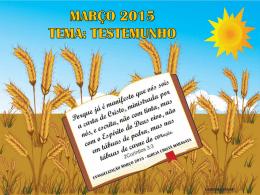 março 2015 tema: testemunho