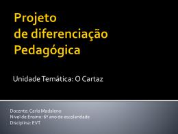 Projeto de diferenciação Pedagógica