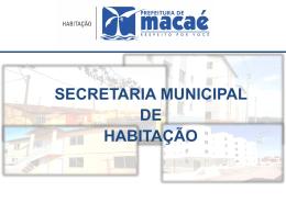 Slide 1 - Prefeitura Municipal de Macaé