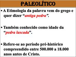 Paleolítico - Colégio Pueri Pax