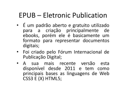 EPUB – Eletronic Publication