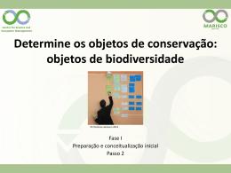 2. Determine os objetos de conservação