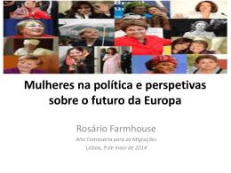 Mulheres na política e perspetivas sobre o futuro da