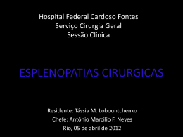 ESPLENOPATIAS CIRURGICAS
