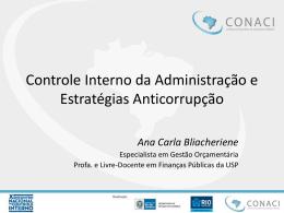 Ana Carla Bliacheriene – Controle Interno da
