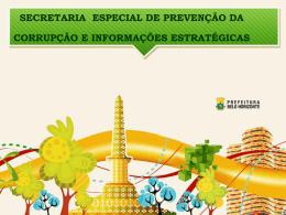 Estratégia do Município Belo Horizonte Combate a Corrupção