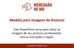 Mercadão do Boi - Modelo para Imagens de Anúncios