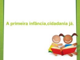 Slide 1 - Rede Nacional Primeira Infância