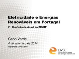 Eletricidade e Energia Renováveis em Portugal
