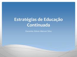 Estratégias de Educação Continuada