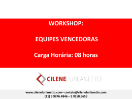 Workshop de Equipes Vencedoras
