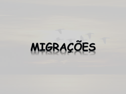Migrações Principais fluxos migratórios para a Europa e Portugal
