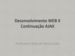 Aula Desenvolvimento WEB cont_AJAX