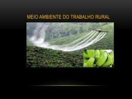 Meio ambiente do trabalho rural