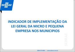 Apresentação completa Indicador de implementação da