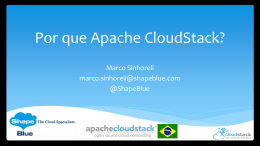 Apache CloudStack 4.1 New Features Deep Dive