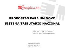 propostas para um novo sistema tributário nacional