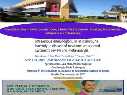 Imunoglobulina intravenosa na doença