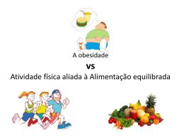 Obesidade e Atividade física (Powerpoint)