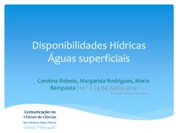 Situação das bacias hidrográficas dos rios portugueses