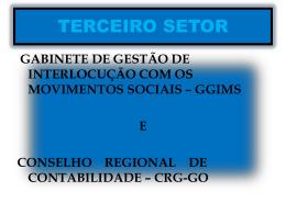 Terceiro Setor - CRC-GO