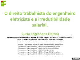 O direito trabalhista do engenheiro eletricista e a