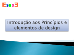 Introdução aos Princípios e elementos de design