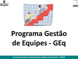 GEq M8 - Prefeitura de São Paulo