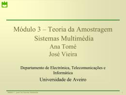 F - Universidade de Aveiro › SWEET