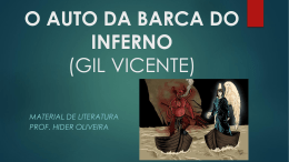 O AUTO DA BARCA DO INFERNO (GIL VICENTE)