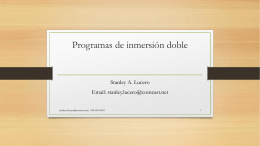 Programas de inmersion duales Dual Language Programs