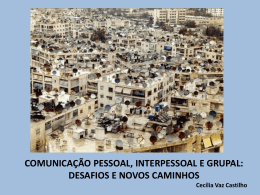 Comunicação Pessoal e interpessoal