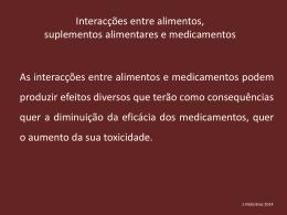Toxicologia.interações perigosas