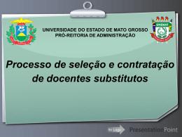Processo de Seleção e Contratação de Docentes