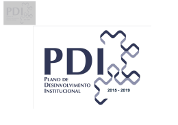 Apresenta o PDI 2015 2019 - Cefet-RJ